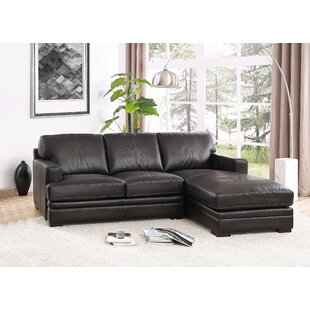 Salem Leather Sectional HYDELINE