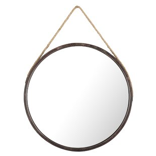 round hanging mirror with rope wayfair
