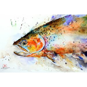 Fish by Dean Crouser Painting Print on Wrapped Canvas by Loon Peak