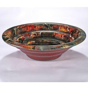 Bargain Glass Circular Vessel Bathroom Sink By InFurniture