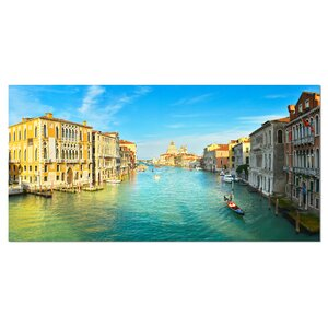 Vibrant Evening Venice Italy Photographic Print on Wrapped Canvas by Design Art