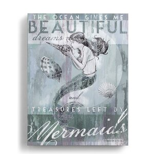 Beyond the Shore 'Treasures Left by Mermaids' Painting Print on Wrapped Canvas by DEMDACO
