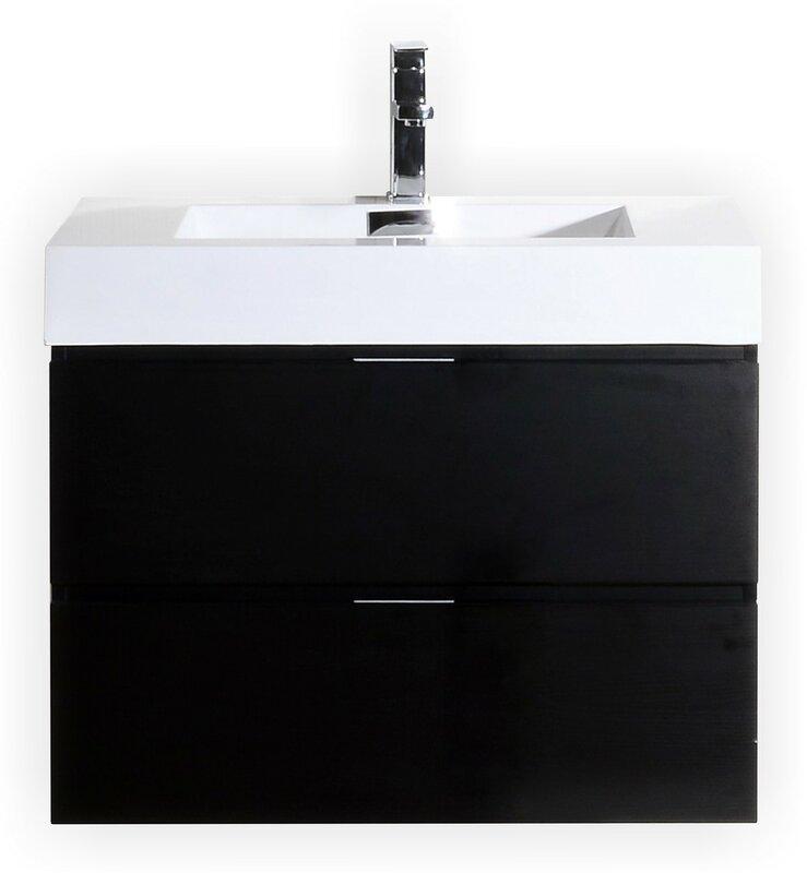 "Bathroom Vanities Gilbert Az wade logan tenafly 36"" single wall mount modern bathroom vanity"