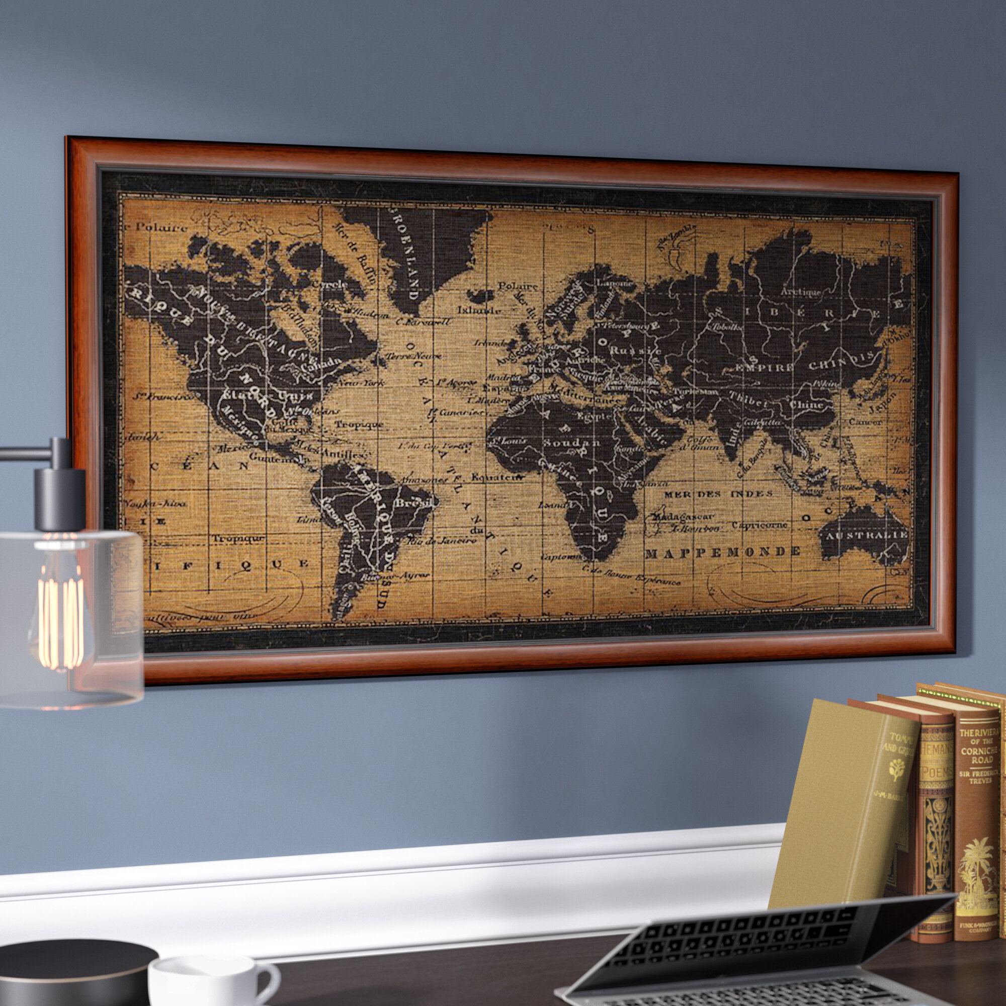 Darby home co old world map framed graphic art wayfair gumiabroncs Choice Image