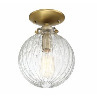 Coupon Nevarez 1-Light Semi Flush Mount By Beachcrest Home