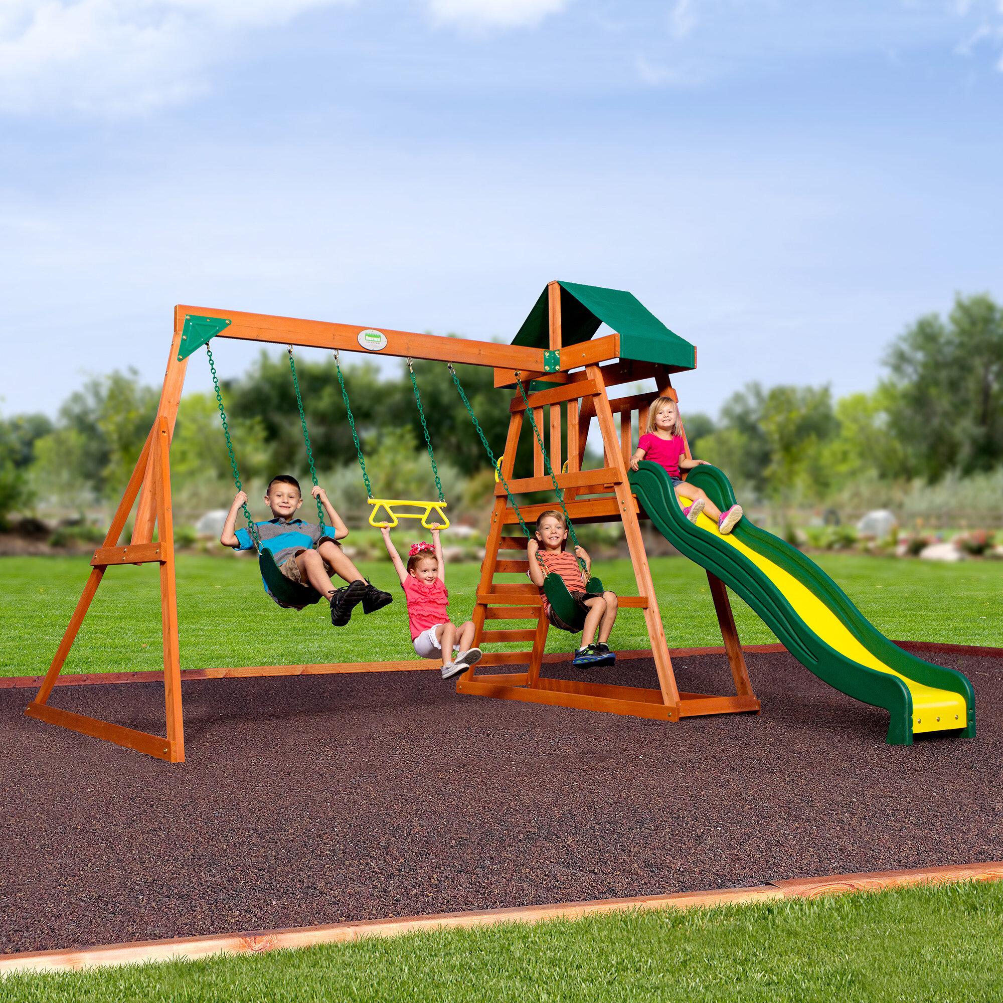 Backyard Discovery Prescott All Cedar Swing Set Reviews Wayfair