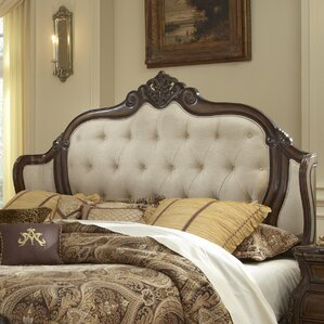 Lavelle Mansion Upholstered Wingback Headboard by Michael Amini (AICO)