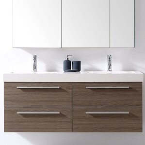 54 vanity double sink. Finley 54  Double Bathroom Vanity Set Modern Vanities AllModern