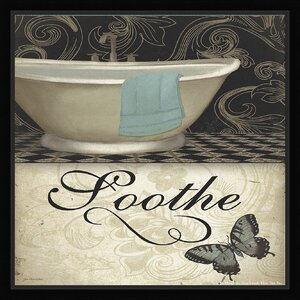 Trends Soothe Framed Graphic Art by Ashton Wall Décor LLC