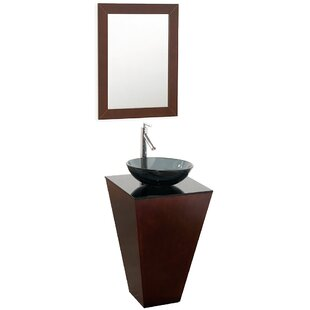 Looking for Esprit 20.1 Single Pedestal Bathroom Vanity Set with Mirror By Wyndham Collection