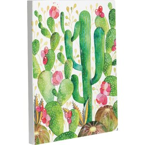 Cactus by Ana Victoria Calderon Graphic Art on Wrapped Canvas by One Bella Casa