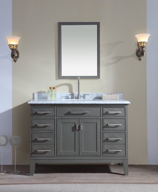 wayfair bathroom vanities. Danny 48  Single Bathroom Vanity Set Ari Kitchen Bath Reviews