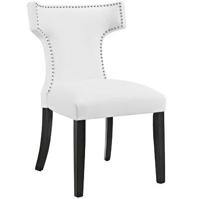 Upholstered Microfiber Dining Chair   Wayfair