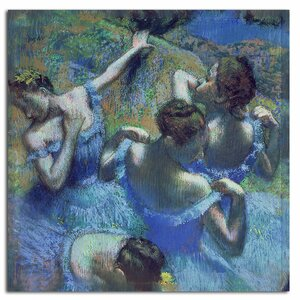 Blue Dancers 1899 by Edgar Degas Painting Print on Canvas by Trademark Fine Art