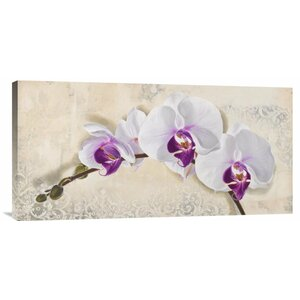 'Royal Orchid' by Elena Dolci Painting Print on Wrapped Canvas by Global Gallery