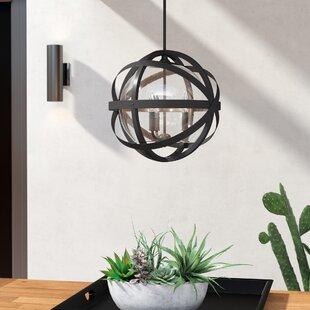 Buy clear Stefanie 3-Light Outdoor Pendant By Trent Austin Design