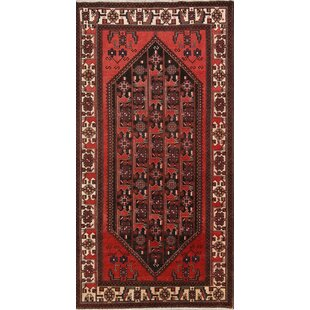 Where buy  One-of-a-Kind Barrington Geometric Bakhtiari Vintage Persian Hand-Knotted 5'1 x 9'9 Wool Black/Burgundy/Beige Area Rug By Isabelline