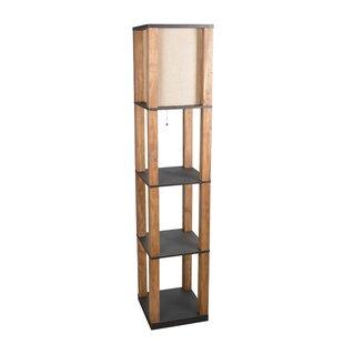 Floor lamp with shelves wayfair 68 column floor lamp aloadofball Images