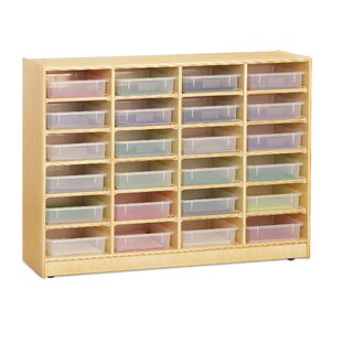 Price Check Paper-Tray 24 Compartment Cubby with Casters By Jonti-Craft