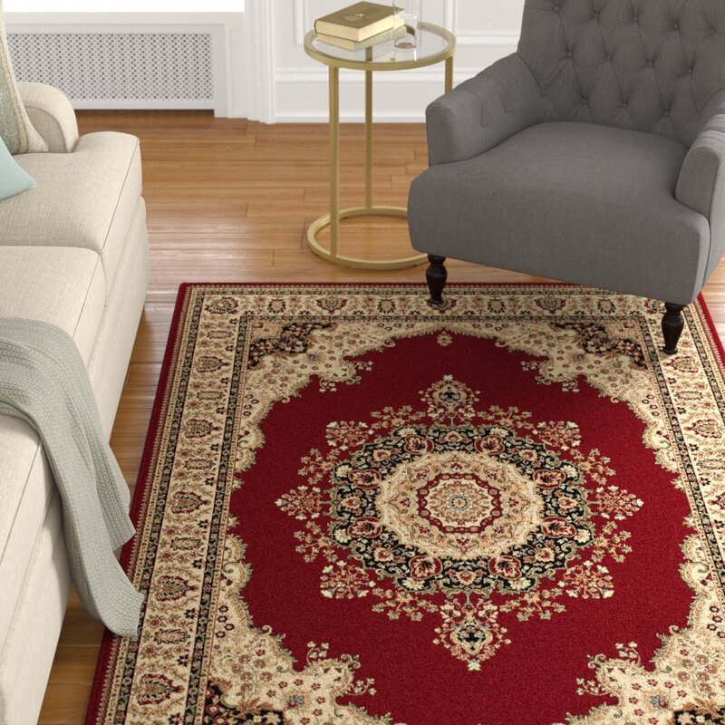 Astoria Grand Clarence Red Area Rug