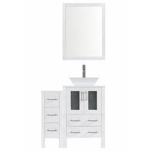 Compare prices Modern 42 Single Bathroom Vanity Set with Mirror ByLessCare