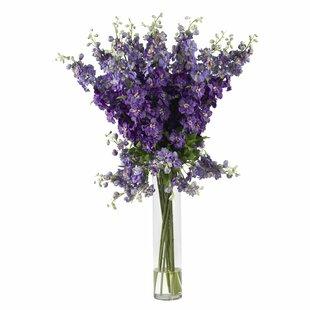 Tall dry flower arrangements wayfair delphinium silk flower arrangement mightylinksfo