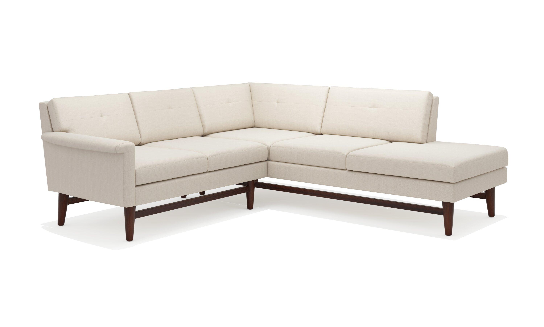 Truemodern diggity corner sectional sofa with bumper wayfair