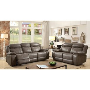 Heitzman Contemporary Leather Manual Wall Hugger Configurable Living Room Set By Red Barrel Studio