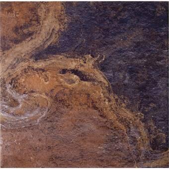 Imagine Tile Inc Metro 16 X 16 Ceramic Field Tile In Rust Orange Wayfair