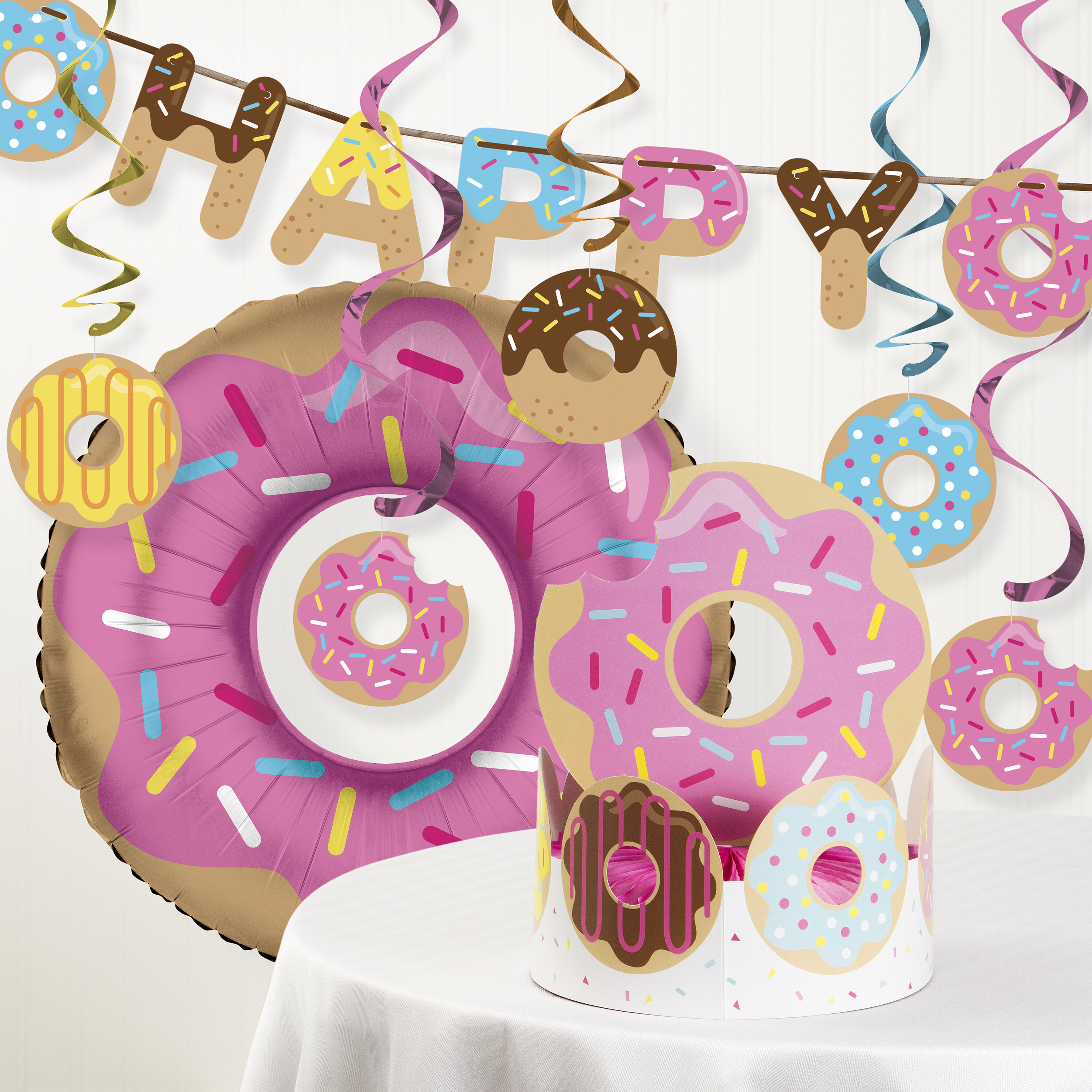 Donut Time Centerpiece Tableware Decor Sprinkles Baking Birthday Party Events
