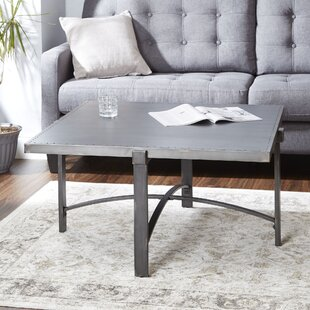 Baratta Metal Base Coffee Table Ivy Bronx