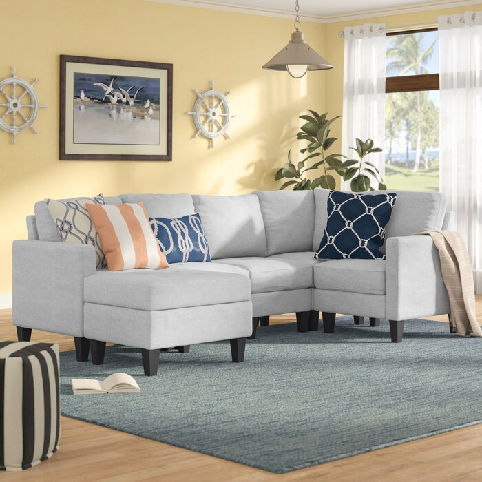 Pleasing Longwood Modular Sectional With Ottoman Andrewgaddart Wooden Chair Designs For Living Room Andrewgaddartcom
