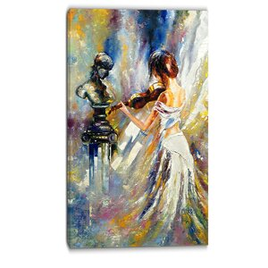 Love with Endless Music Abstract Graphic Art on Wrapped Canvas by Design Art