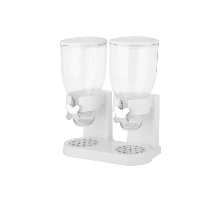 Zevro double 2 container cereal dispenser reviews wayfair double 2 container cereal dispenser ccuart Image collections