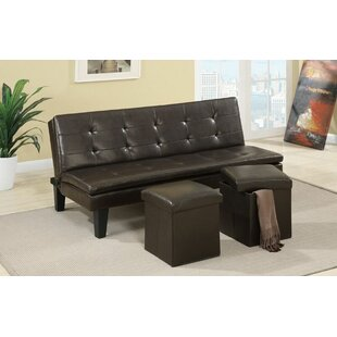 Akers Modern Comfort Convertible Sofa With 2 Storage Ottoman