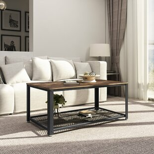 Landis Metal Frame Coffee Table with Tray Top