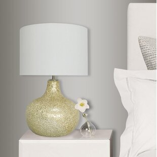 Price comparison Champagne Crackle Glass 16.5 Table Lamp By NU Steel