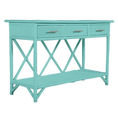 David Francis Furniture 54 Wide 3 Drawer Wood Sideboard  Color: Turquoise