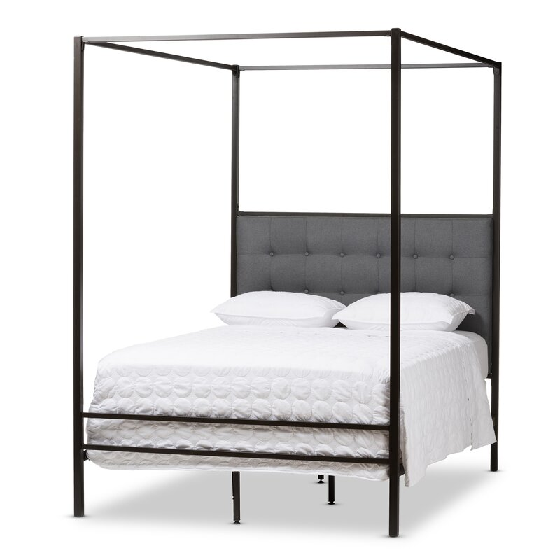 Baxton Studio Margherita Queen Canopy Bed