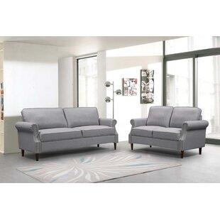 Alecsander 2 Piece Standard Living Room Set by Red Barrel Studio®