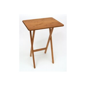 Bamboo Rectangular Snack Tray Table (Set of 2)