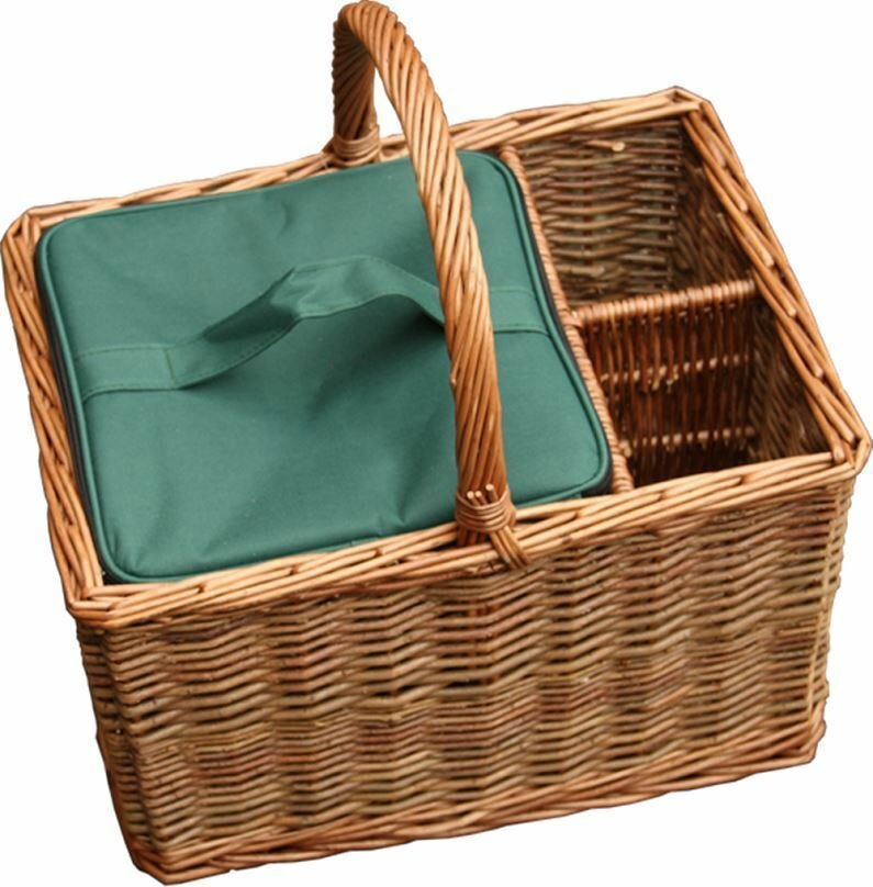 Event Willow Wine Basket with Cooler