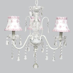 Jewel 3-Light Shaded Chandelier by Jubilee Collection
