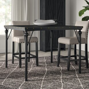 Affordable Price Crooke Wood Counter Height Dining Table By Greyleigh