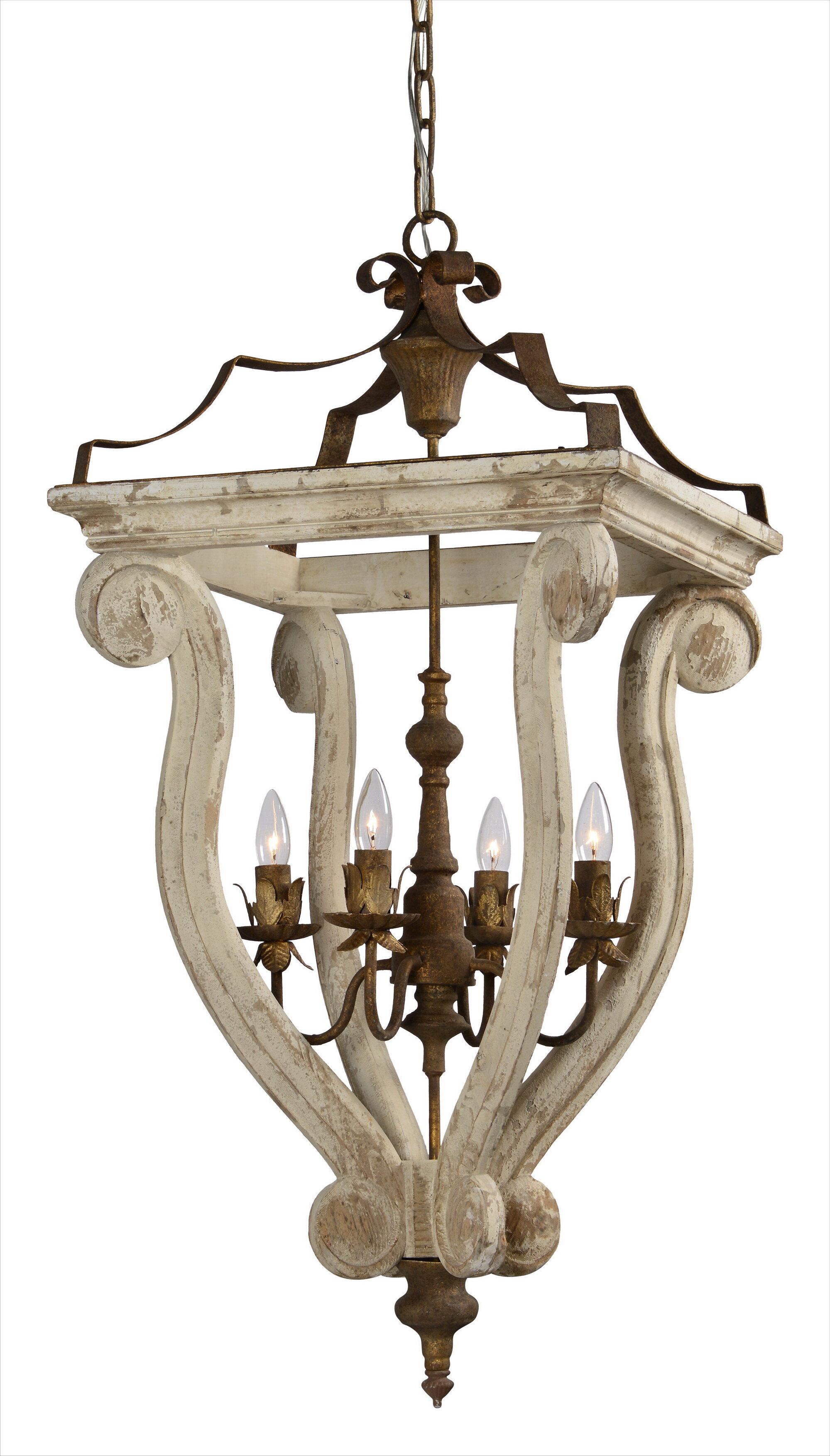 Ophelia & Co. Fargo 4-Light Lantern Chandelier | Wayfair