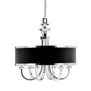 round black chandelier black metal strap huenna 6light chandelier circle black wayfair