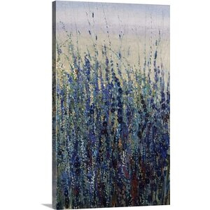 'Early Bloom in Blue' by Tim O'Toole Painting Print on Canvas by Great Big Canvas