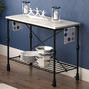 Kitchen Island with Metal Open Shelf By Latitude Run