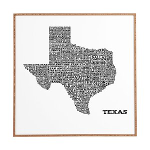 Texas Map by Restudio Designs Framed Graphic Art by Deny Designs