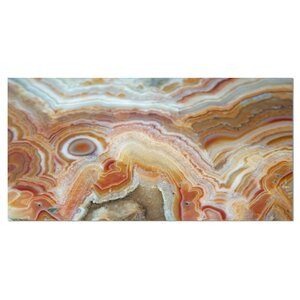'Strips and Ovals on Agate' Graphic Art on Wrapped Canvas by Design Art